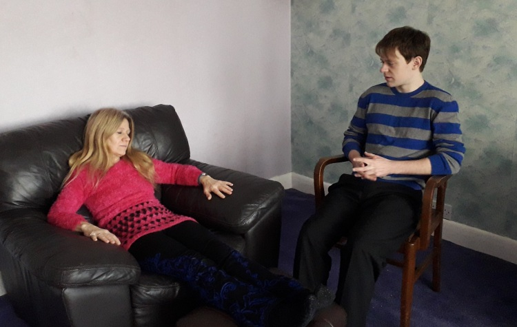 A typical example of a hypnosis session